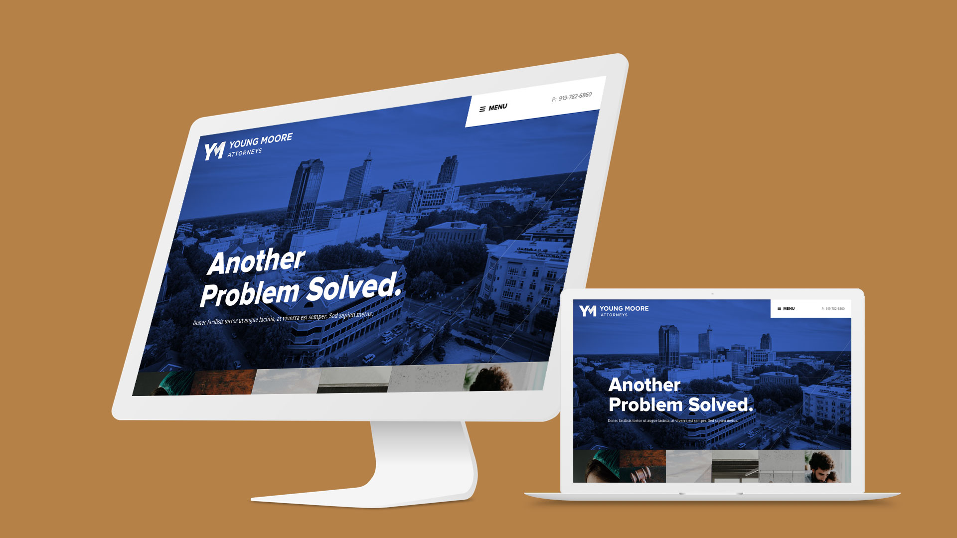 Young Moore branding and web design