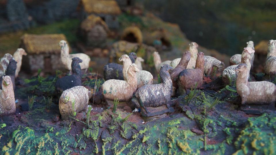 Awana Kancha Llama Farm figurines