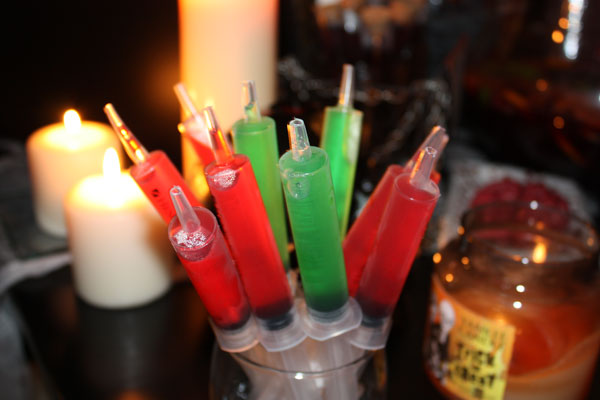 Jello syringe shots