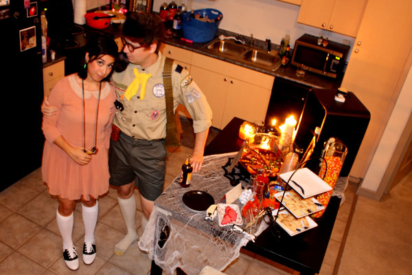 Annie and Nathan dressed as Sam and Suzy from Moonrise Kingdom