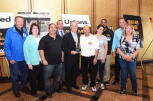 Suffolk County Executive Steven Bellone receives  Friend of Labor  Award from Shop Stewards
