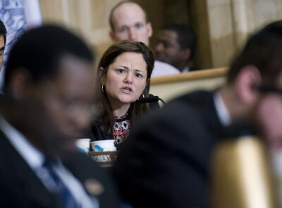 Council member viverito during the walmart hearing c william alatriste new york city council