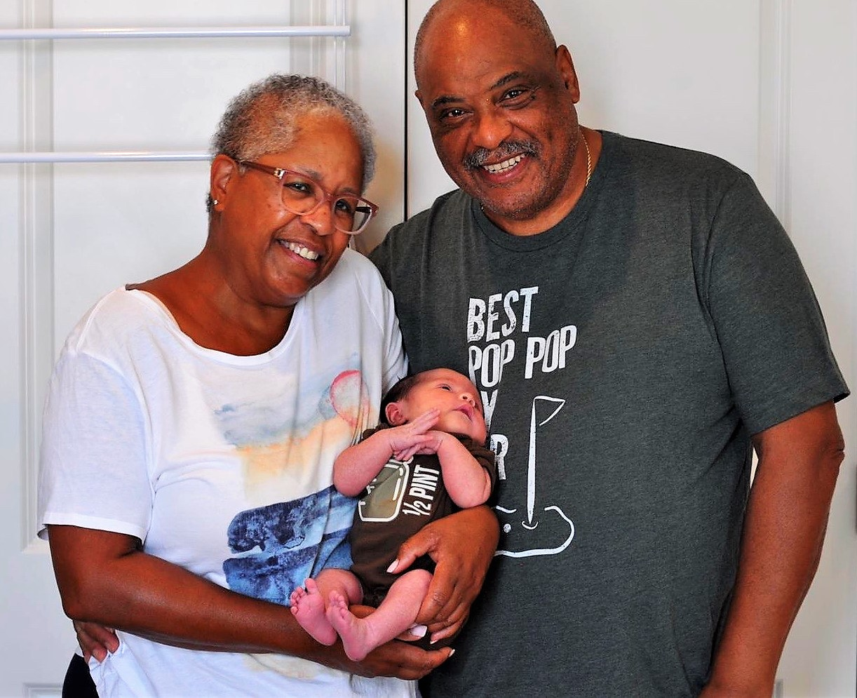 Jan and Haynes with Baby