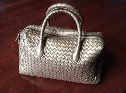 Gold Woven Handbag