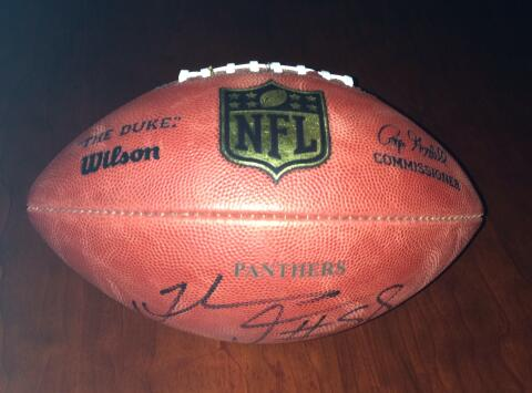 Autographed Panthers Football