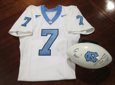 Autographed Authentic Jersey and Football