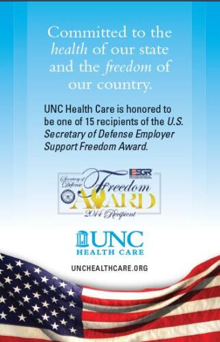 UNC Health Care DoD Award