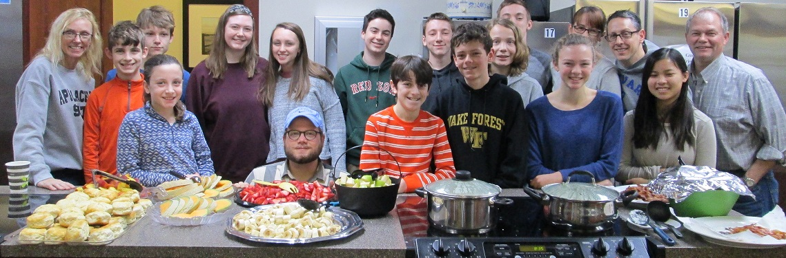 The aroma of bacon and freshly baked goods filled the kitchen as guests trickled in to be greeted by this inspiring group of sixth to twelfth graders.