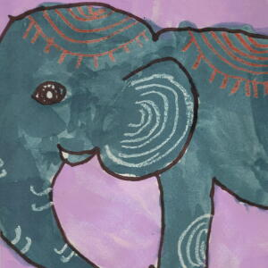 Elephant (Watercolor) - Angelina