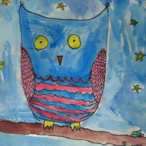 Owl (Watercolor) - Alexa