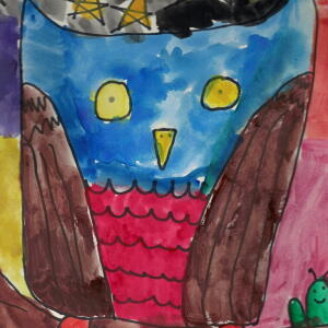 Owl (Watercolor) - Camila