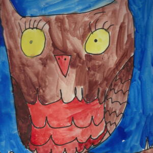 Owl (Watercolor) - Keiya
