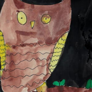 Owl (Watercolor) - Leonardo