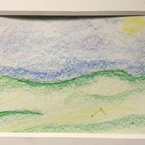 Landscape (Crayon) - Jazmine