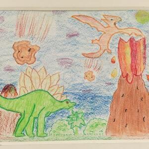 Jurassic Park (Oil Pastel) - Camilla