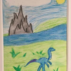 Jurassic Park (Crayon) - Charlene
