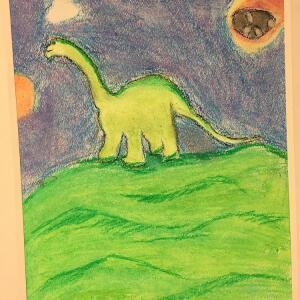 Jurassic Park (Crayon) - Mario