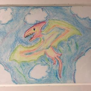 Jurassic Park (Crayon) - Lila