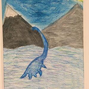 Jurassic Park (Crayon) - Samantha