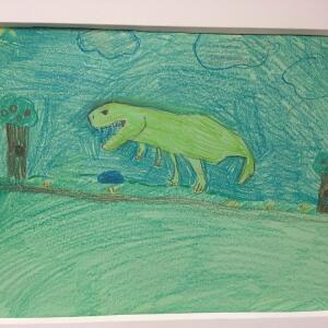 Jurassic Park (Crayon) - Reina