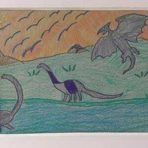 Jurassic Park (Crayon) - Giselle