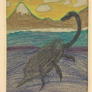 Jurassic Park (Crayon) - Abby