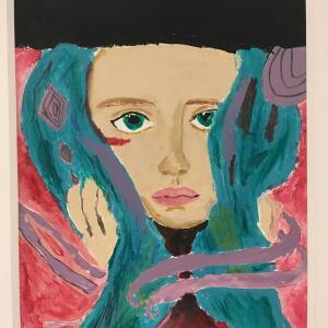 Expressive Portrait (Acrylic) - Samirah