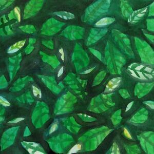 Negative Painting (Watercolor) - Zarina