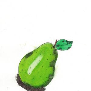 Pear (Watercolor) - Arianna