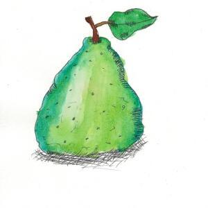 Pear (Watercolor) - S.C.
