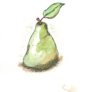 Pear (Watercolor)
