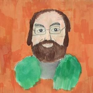 Contour Line Portrait (Watercolor)