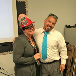 Crazy Hat Day - 2nd Place (tie), Mrs. Howell