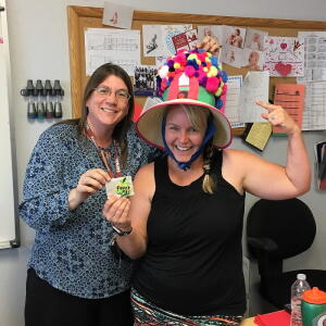 Crazy Hat Day - 1st Place, Mrs. Stockton