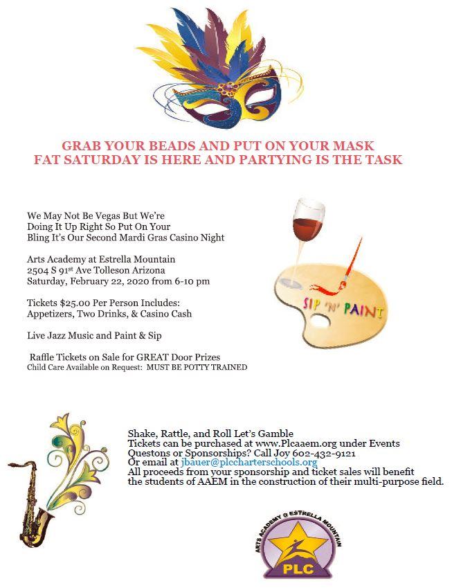 Mardi Gras Casino Night Information
