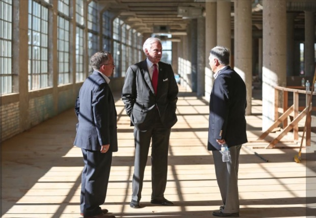 S.C> Gov McMaster talks with Rock Hill Mayor Doug Echols, right, during tour of Knowledge Park - Photos By Melissa Key