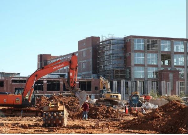 Construction Progress at Knowledge Park - Photos by Melissa Key