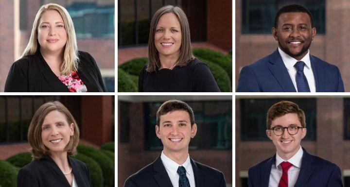 Collage of head shots of six new attorneys