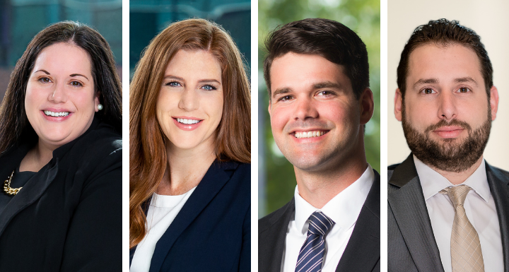 Four Ward and Smith attorneys, Amy Wooten, Madeline Lipe, James Todd and Thomas Wolff