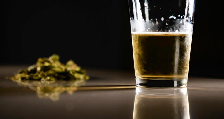 Beer with cannabis