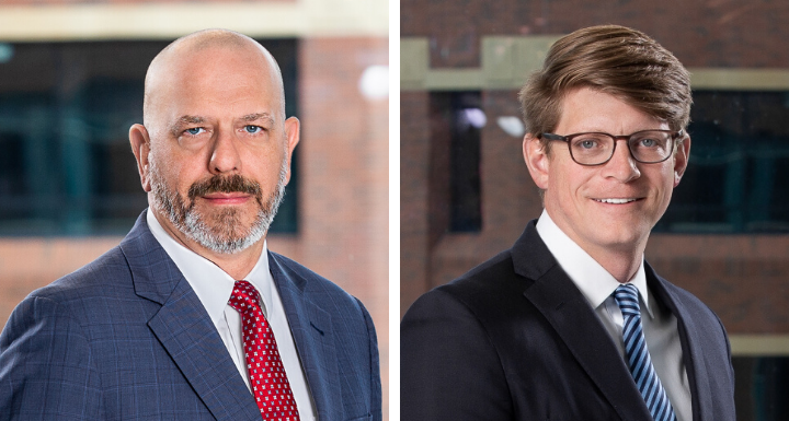 Attorneys Bill Durr and Evan Musselwhite