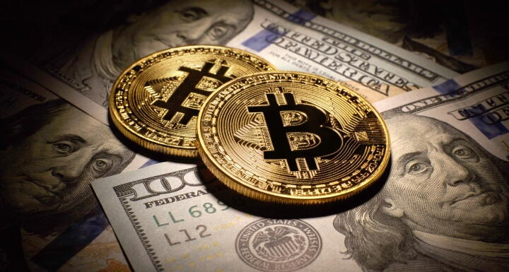 Bitcoin on top of paper money