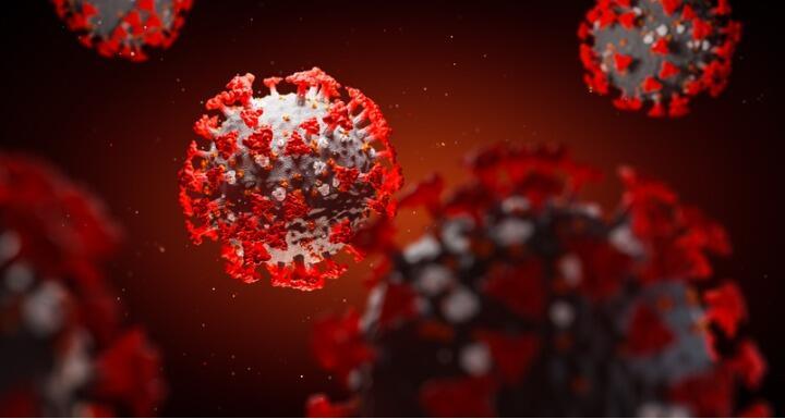 Microscopic Coronavirus molecule