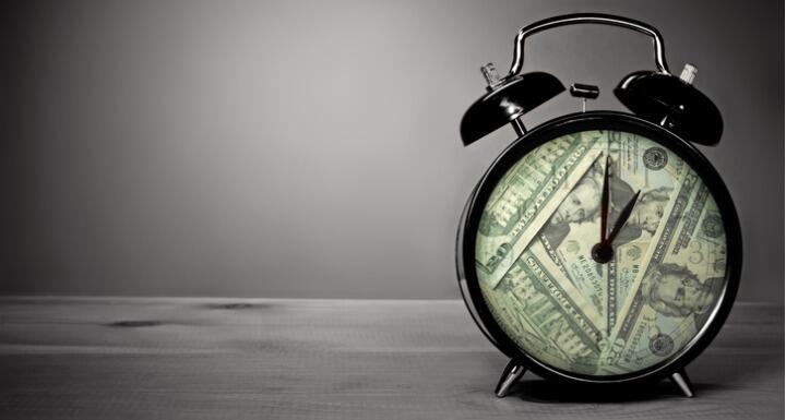 Clock made from $20 bills