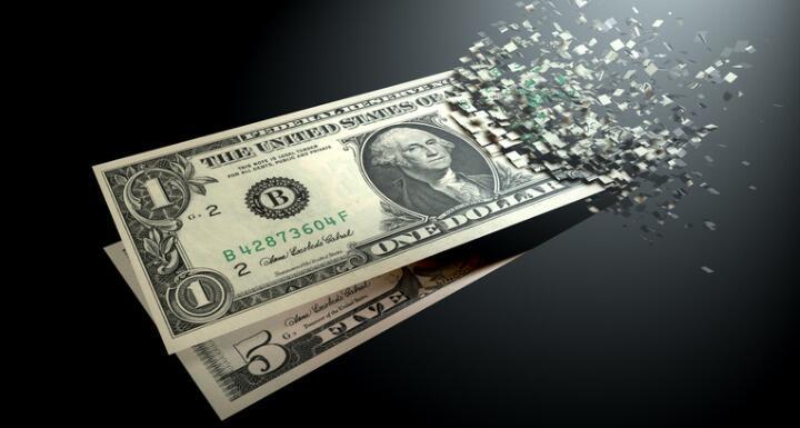 Money dematerializing