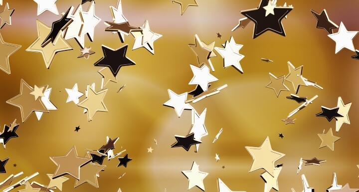 Falling gold stars