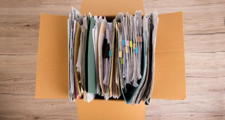 Files in boxes
