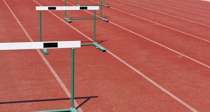 Hurdles in a track field