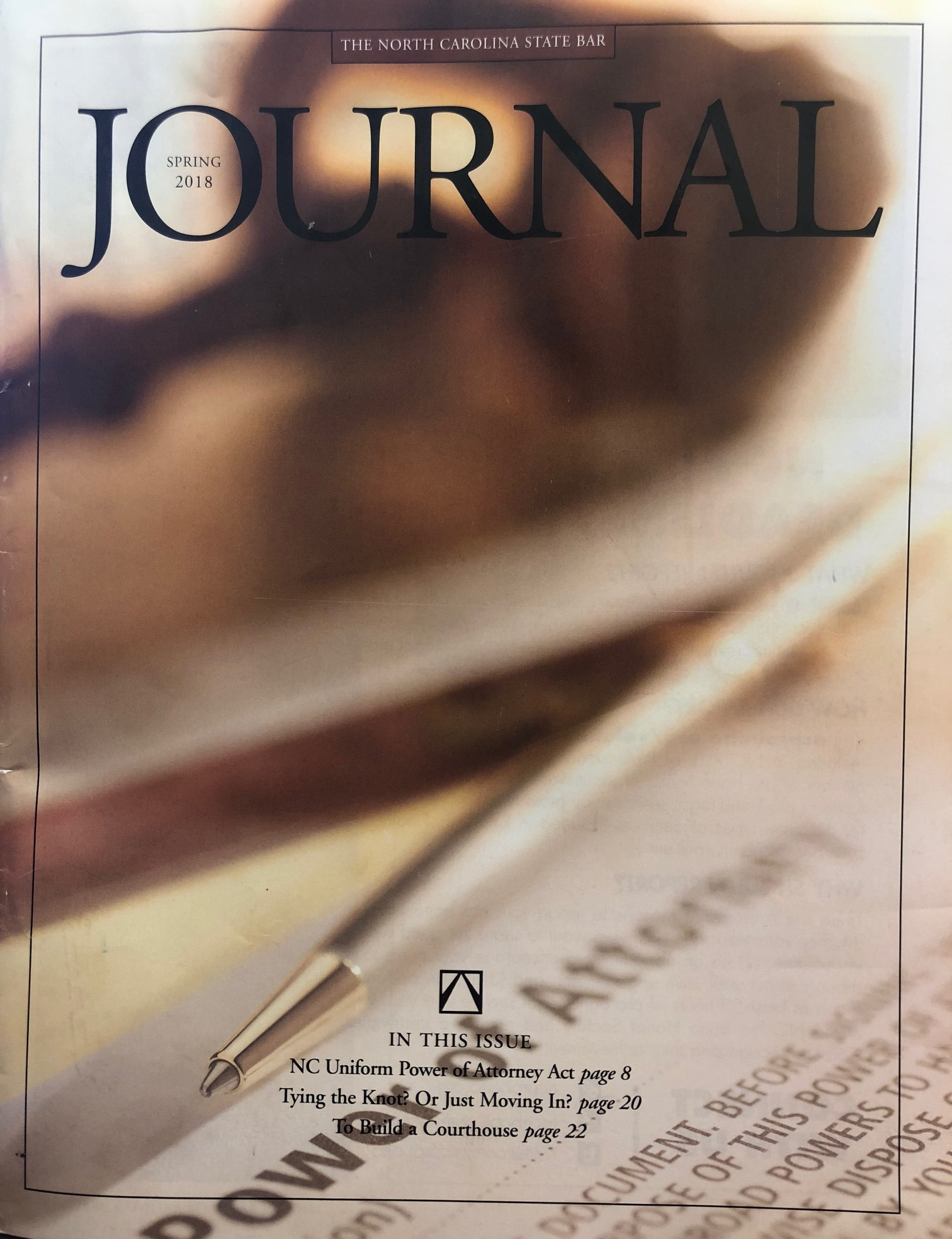 NC State Bar Journal Cover