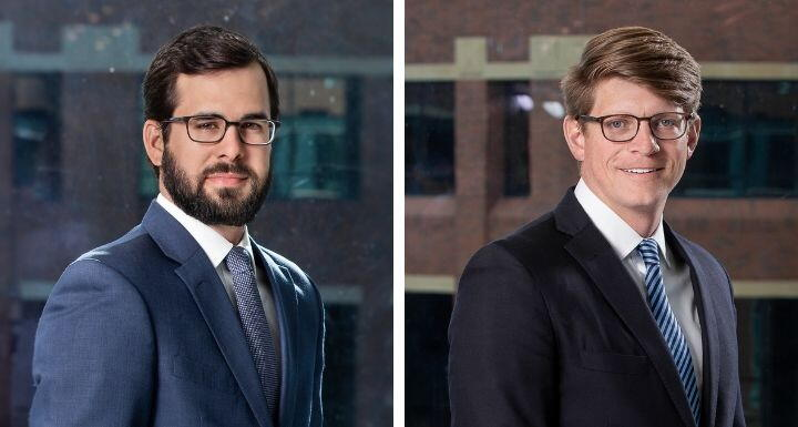 Corporate Attorney Joe DelPapa and Construction attorney Evan Musselwhite